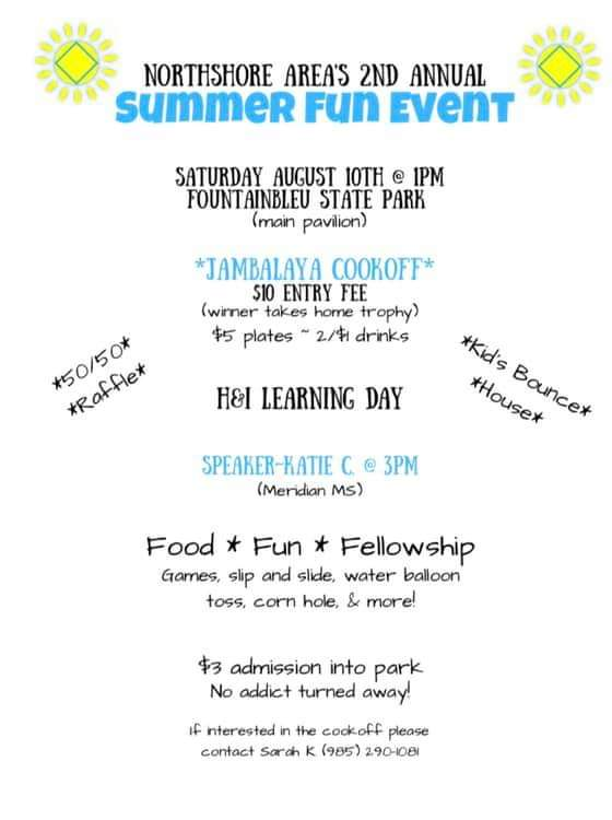 Northshore Area's 2nd Annual Summer Fun Event